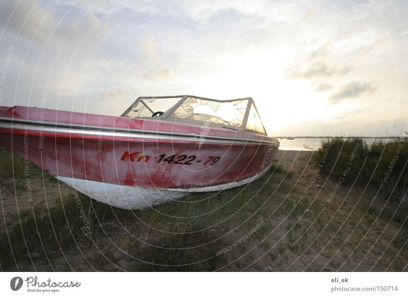 motorboat Motorboat Sport boats Watercraft Stranded Wreck Sunset Terminus Old Chrome Navigation Yacht Directions