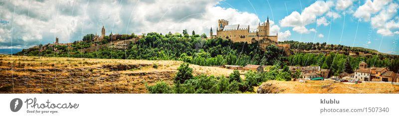 castle Alcazar of Segovia, Spain Vacation & Travel City Old Landscape Clouds Architecture Building Stone Earth Tourism Vantage point Church Places Europe Historic Hill