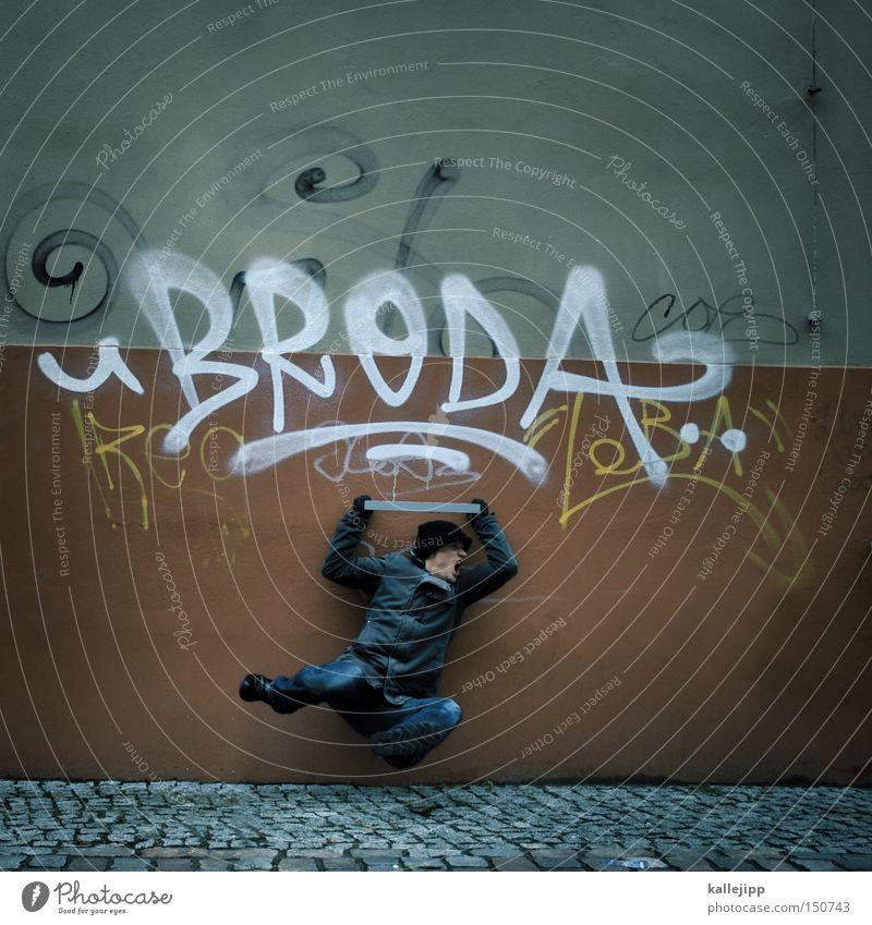 Human being Man City Graffiti Flying Aviation Fight Martial arts Karate Ninja Chinese martial art