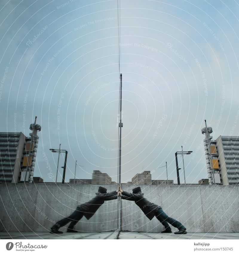 Human being Man City House (Residential Structure) Berlin Window High-rise Fight Window pane Reflection Slice Mirror image Really Online Martial arts