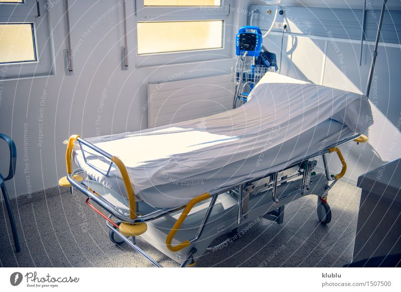 Empty Bed On Hospital Ward Health care Medical treatment Illness Wellness Relaxation Clean Death Insurance bed room Story two aid medical patient Healing