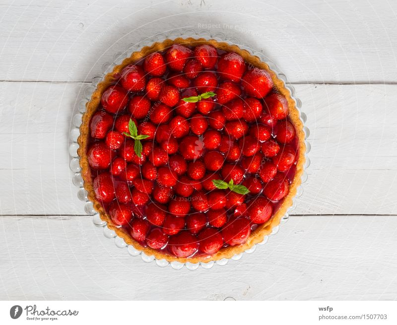 White Wood Cooking & Baking Cake Dessert Baked goods Wooden table Strawberry Gateau Rustic Classic Country house Mint
