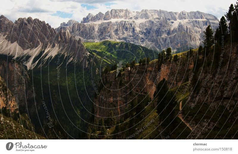 dolomites cir and sella Colour photo Deserted Forward Vacation & Travel Mountain Hiking Climbing Mountaineering Meadow Alps Alpine pasture Italy
