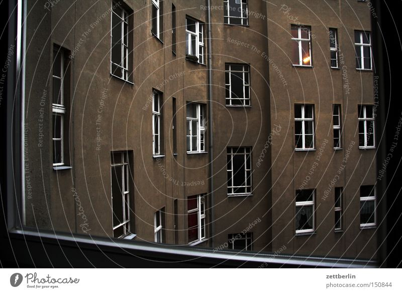 House (Residential Structure) Berlin Window Sadness Building Grief Gloomy Distress Places Backyard Tenant Courtyard Neighbor Town house (City: Block of flats)