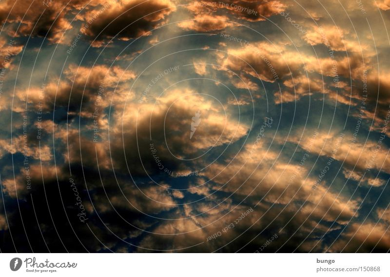Cumulus Clouds Sky Sunset Romance Dark Evening Night Nature Creation Esthetic Moody Atmosphere Absorbent cotton Soft