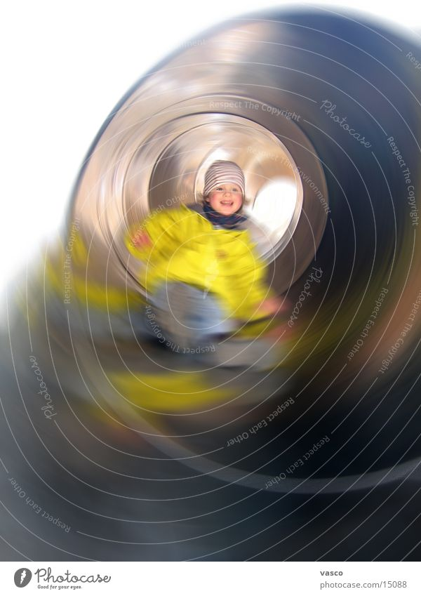 Human being Child Girl Playing Laughter Playground Slide