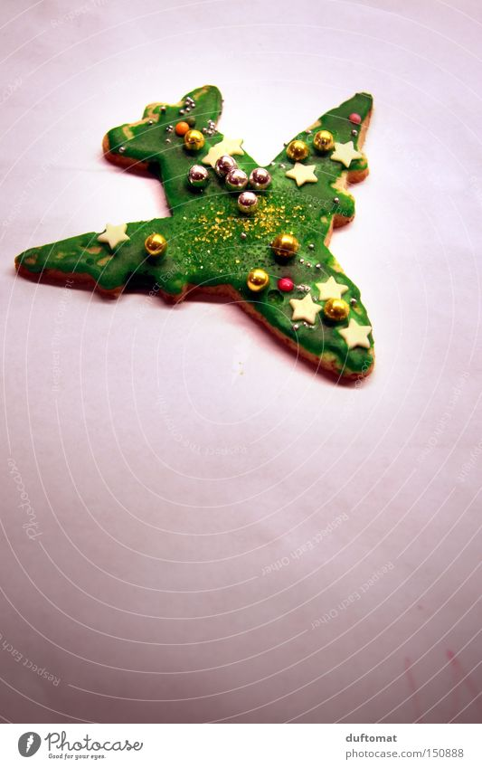 raisin bomber Cake Decoration Christmas & Advent Aviation Airplane Flying Sweet Green Cookie Pearl Crumbs Baked goods Star (Symbol) Copy Space bottom