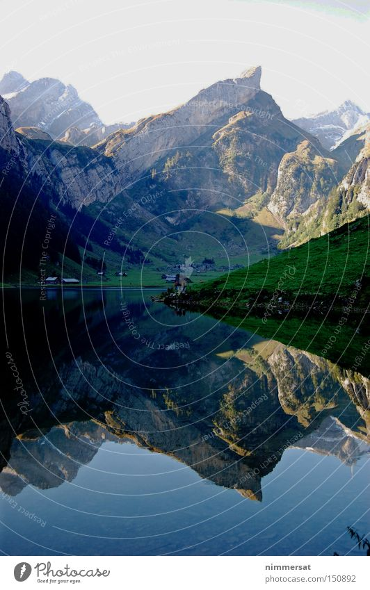Alps Mirror Mountain German Alps Swiss Alps Switzerland Lake Reflection Water Navigation sowing