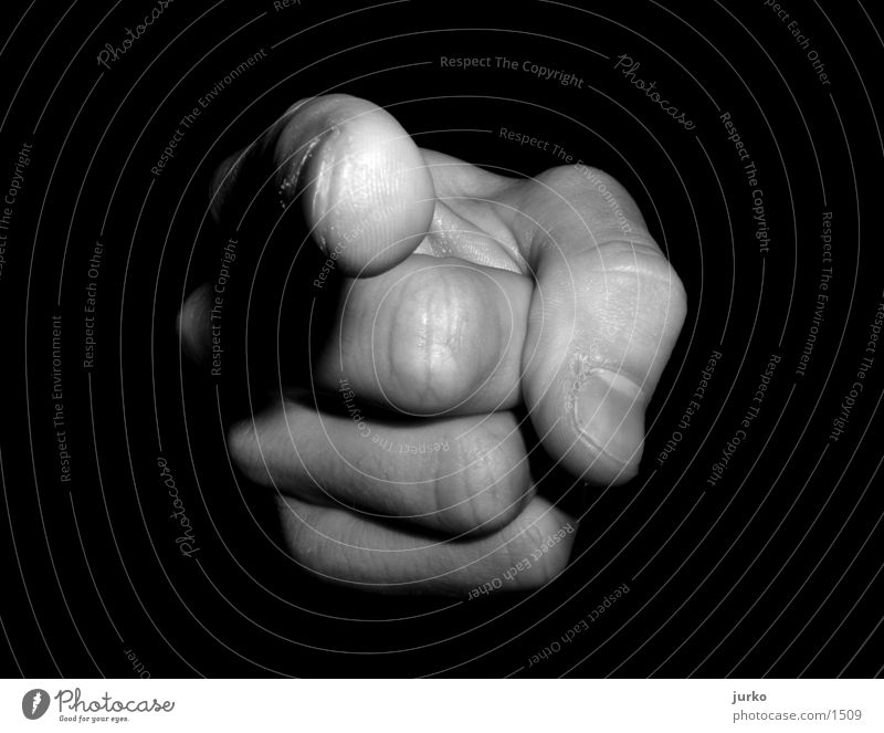 YOU! Hand Fingers Photographic technology Black & white photo Macro (Extreme close-up) Indicate