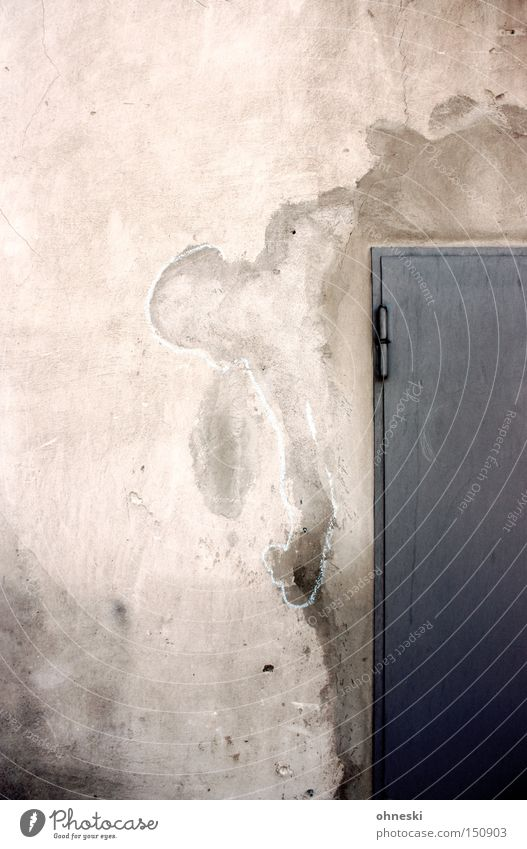 Wall (building) Graffiti Door Concrete Industry Painting and drawing (object) Plaster Chalk Drawing Bochum Patch Mural painting Water mark Century Hall
