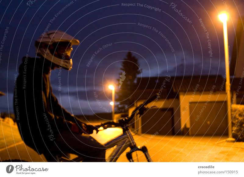 Nightrider lll Motorcyclist Bicycle Sports Helmet Man Twilight Lamp Stand Sit Tire Tree Joy Extreme sports downhill freeride
