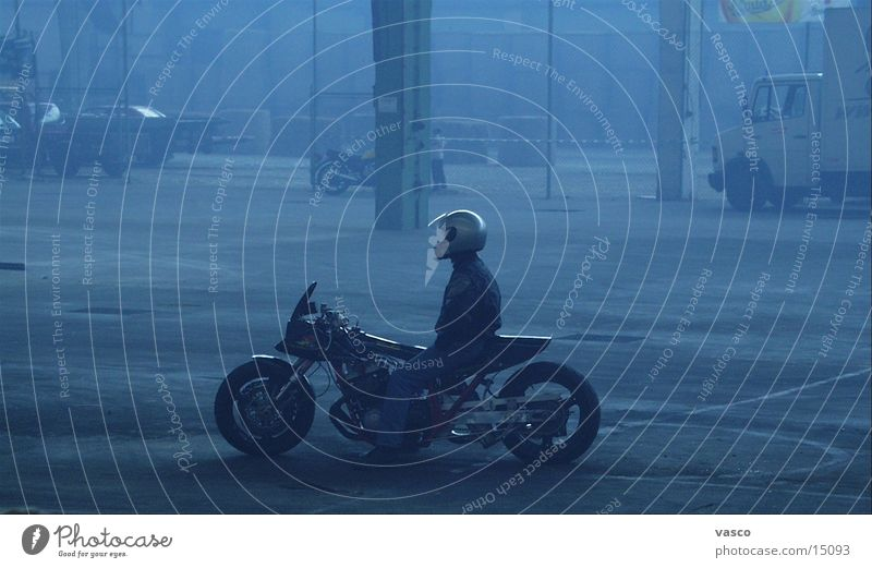Fog Motorcycle Warehouse Helmet Exhaustion