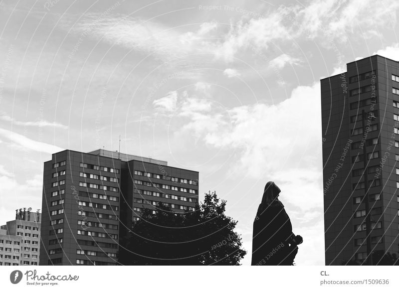 Sky City Tree Clouds Architecture Berlin Building Facade High-rise Places Beautiful weather Statue Sightseeing City trip