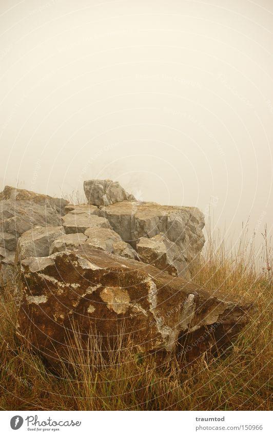 Sky Loneliness Autumn Mountain Stone Sadness Fog Horizon Rock Fragment Quarry Wetzlar