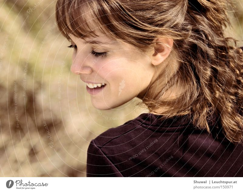 Daughter of Zion Colour photo Exterior shot Day Sunlight Looking back Closed eyes Joy Happy Beautiful Face Life Freedom Human being Feminine Woman Adults