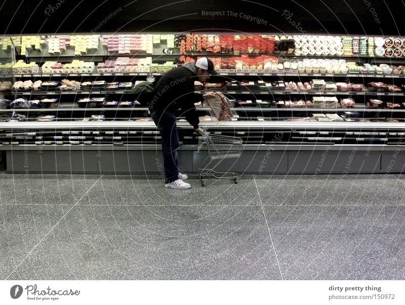 Markets Counter Shopping Appetite Meat Supermarket Shopping Trolley Floor cloth Refrigerated counter