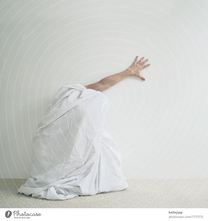 five Man Human being Cloth Rag White Hand Arm Parts of body Whimsical Crazy Hiding place 5 Fingers s.o.s.