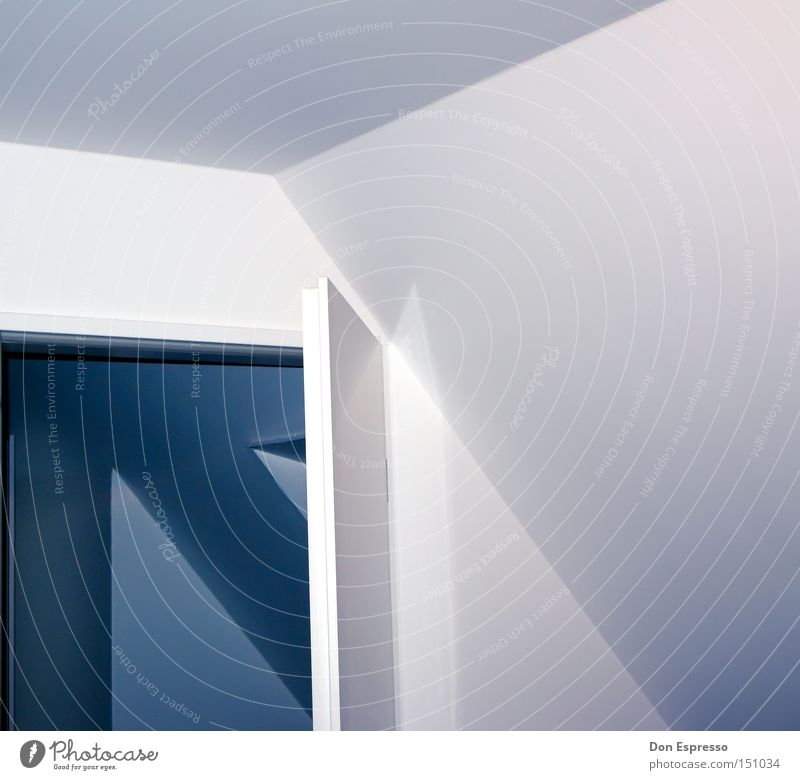 Blue Wall (building) Line Room Lighting Door Simple Living or residing Arrow Illustration Graphic Passage Simplistic