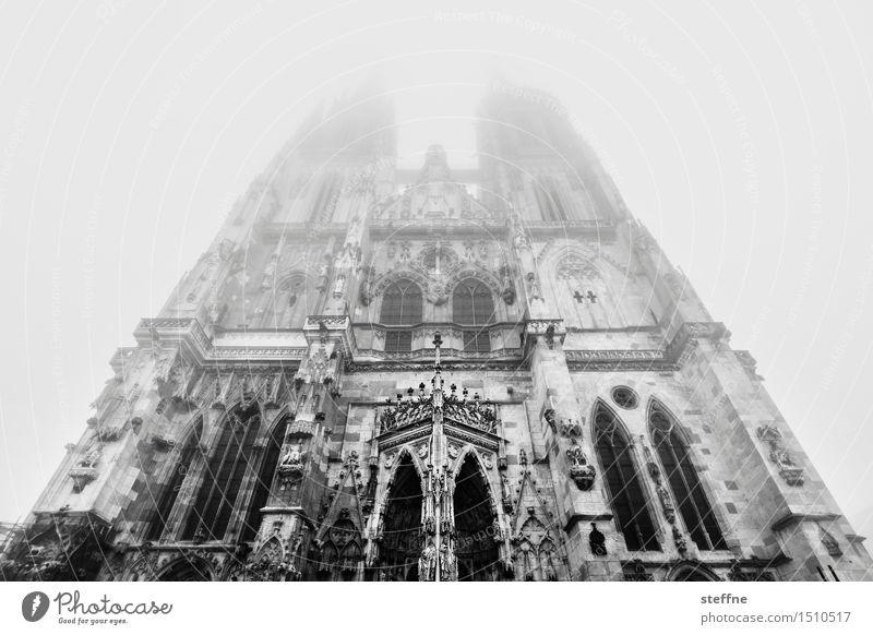 Nature Heaven Winter Religion and faith Facade Fog Church Dome God Prayer House of worship Transcendence Regensburg