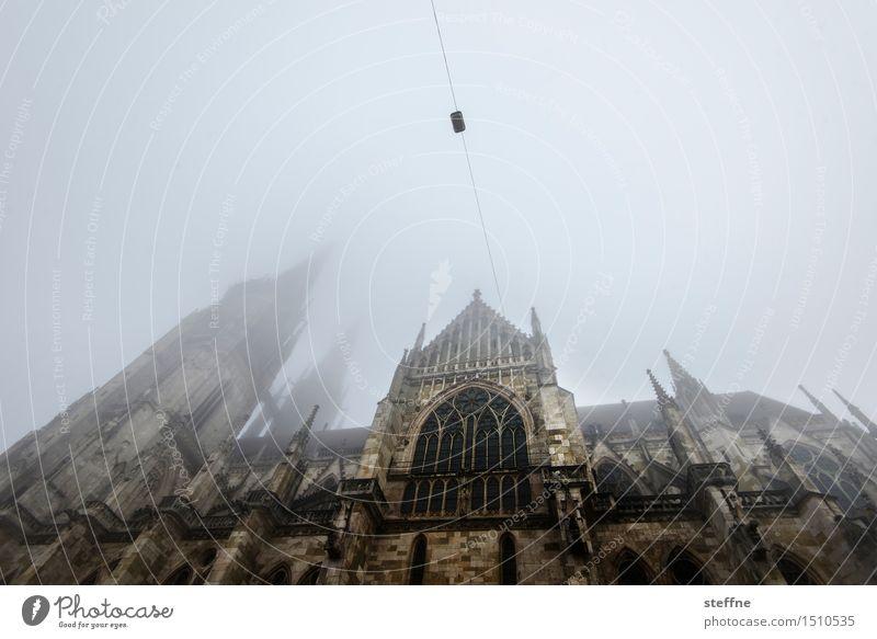 Sky Winter Religion and faith Facade Fog Church Dome Bad weather Regensburg