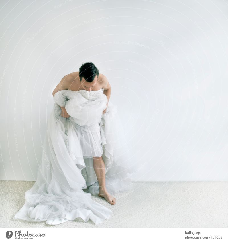 WHITE TRASH Bride Woman Man Dress White Dance Dance event Bend Cloth Tulle Feasts & Celebrations bow bridal fashions Yes