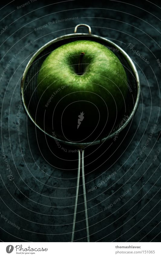 green apple Apple Green Fruit Sense of taste Tasty Symbiosis sifter