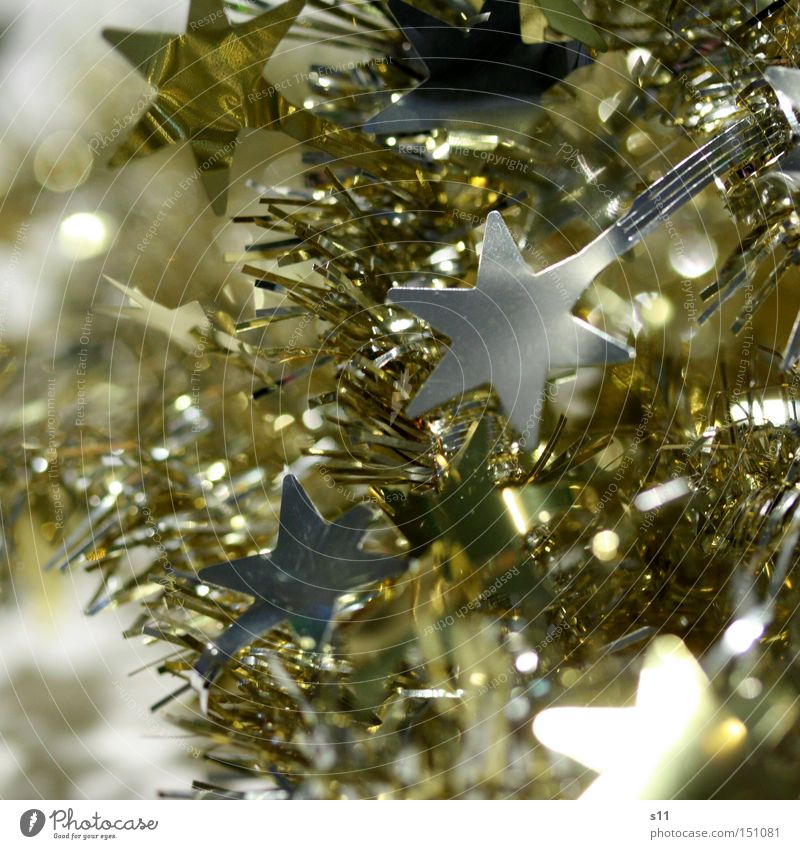Christmas & Advent Winter Lamp Feasts & Celebrations Glittering Gold Star (Symbol) Decoration Silver Glimmer Star of Bethlehem