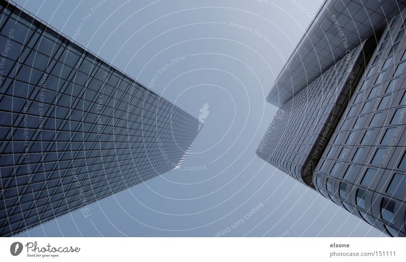 Architecture Gray Building Fog High-rise Financial institution Bank building Frankfurt Main