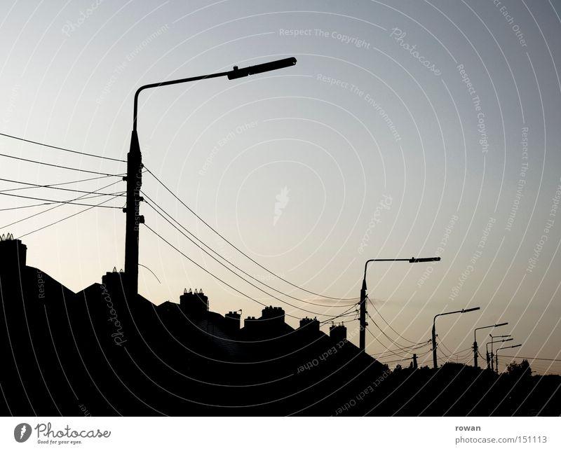 House (Residential Structure) Street Dark Lantern Traffic infrastructure Housefront Dim