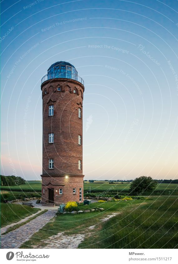 lighthouse Fishing village House (Residential Structure) Tower Lighthouse Tourist Attraction Landmark Monument Blue Navigation Brick Baltic Sea Cap Arcona