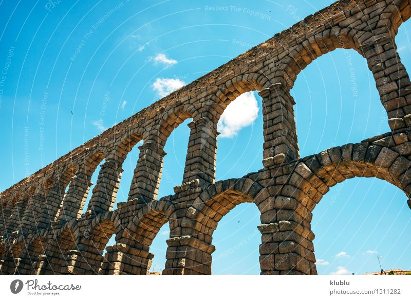 The famous ancient aqueduct in Segovia, Spain Vacation & Travel City Old House (Residential Structure) Architecture Building Stone Rock Tourism Places Culture