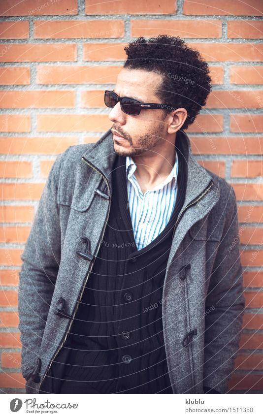Confident attractive mulatto man in urban environment Lifestyle Style Joy Sun Flirt Success Man Adults Fashion Afro Cool (slang) Eroticism Good Hot Hip & trendy