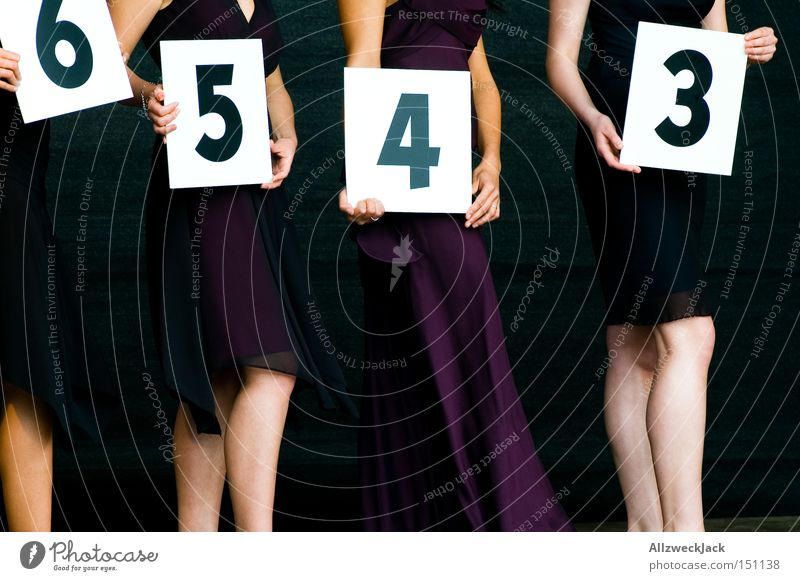 number girls Digits and numbers Lady Woman Select Beautiful Catwalk Sporting event Competition Joy Exhibition Trade fair single-digit ill-timed beauty queen