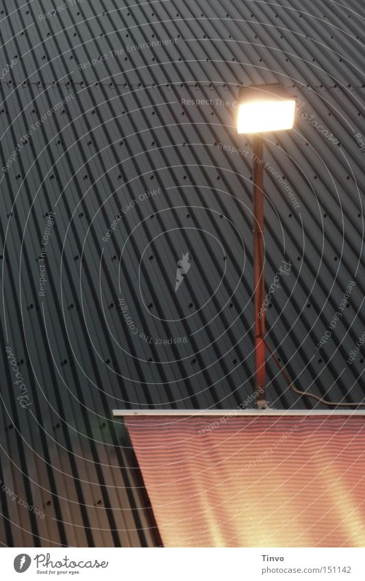 announcement Light Floodlight Corrugated sheet iron Poster Striped Rivet Evening Lighting Undulating Illuminate Theatre Cinema metal wall