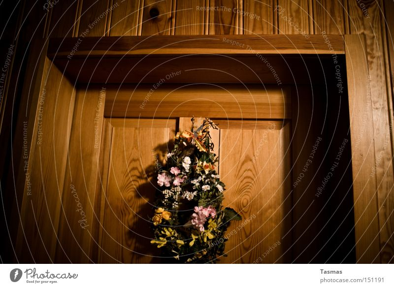 Flower Wood Door Decoration Living or residing Jewellery Bouquet Entrance Wooden door Flower arrangement
