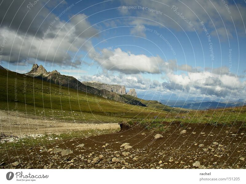 Nature Sky Summer Vacation & Travel Clouds Relaxation Grass Mountain Freedom Hiking Rock Earth Trip Tourism Alps Pasture