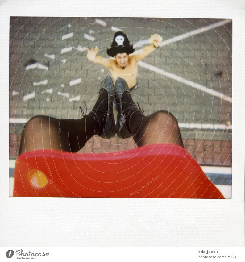 Joy Legs Art Funny Culture Hat Analog Skirt Depth of field Tights Polaroid Lomography Pirate Stockings Weapon Sabre