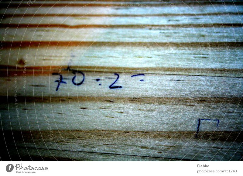 Wood School Digits and numbers Bench Concentrate Student Stress Distress Calculation Pressure Problem Task Mathematics Education