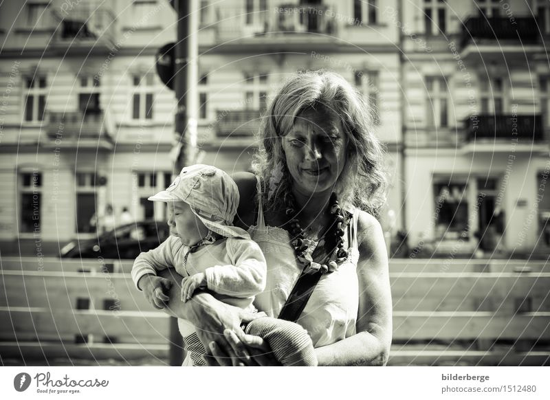 at the construction site Vacation & Travel Toddler Woman Adults 2 Human being Capital city Looking Curiosity Mobility portrait Berlin Photography Reportage