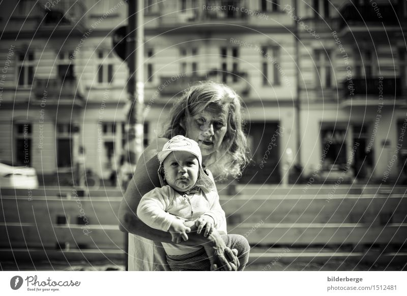 forward Lifestyle City trip Toddler Woman Adults 2 Human being Capital city Old town House (Residential Structure) Curiosity Adventure portrait Berlin