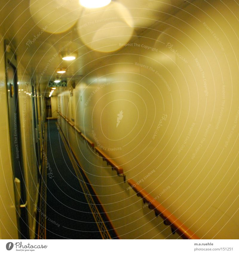 klaus.trophobia Driver's cab Corridor Watercraft Ferry Light Reflection Claustrophobia Fear Panic