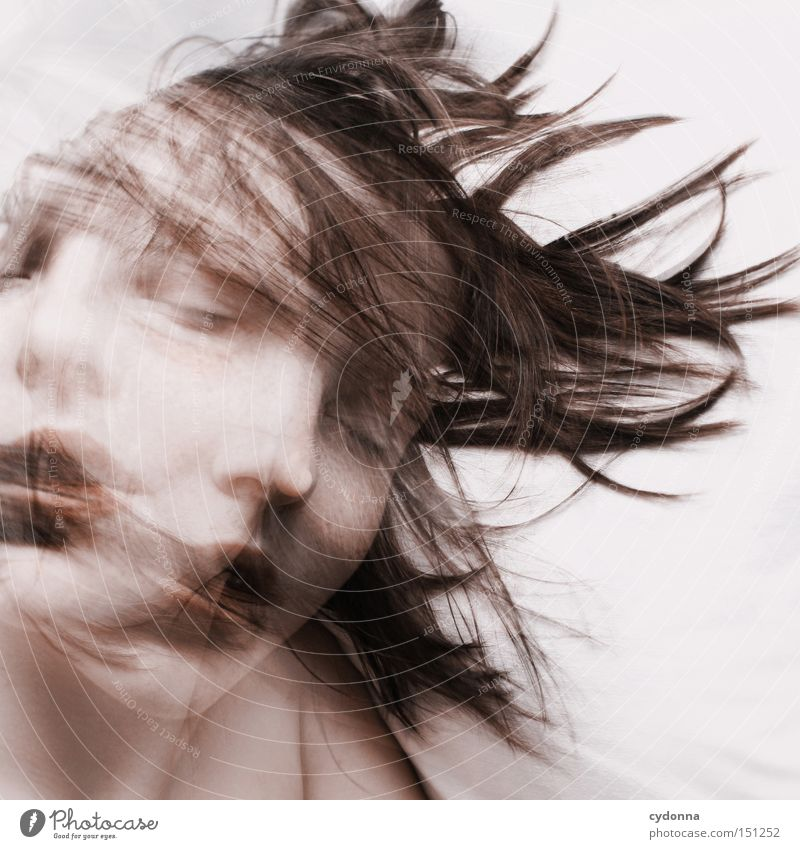 Woman Human being Beautiful Calm Face Life Emotions Movement Dream Esthetic Sleep Rotate Double exposure Closed eyes