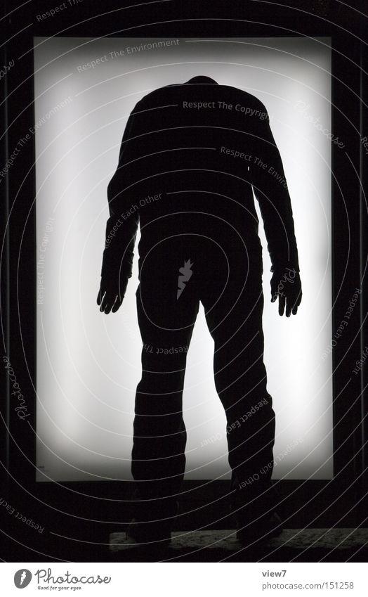 Man Dark Legs Body Arm Signage Poster