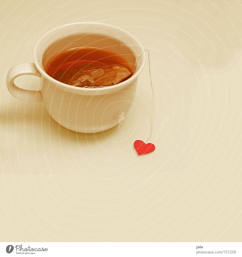 White Winter Love Heart Healthy Clean Tea Cup Refreshment Lovesickness Teabag