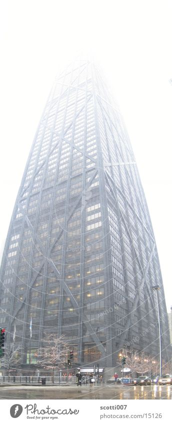 Winter Snow Architecture Large High-rise Tall Modern USA Skyline Chicago Illinois