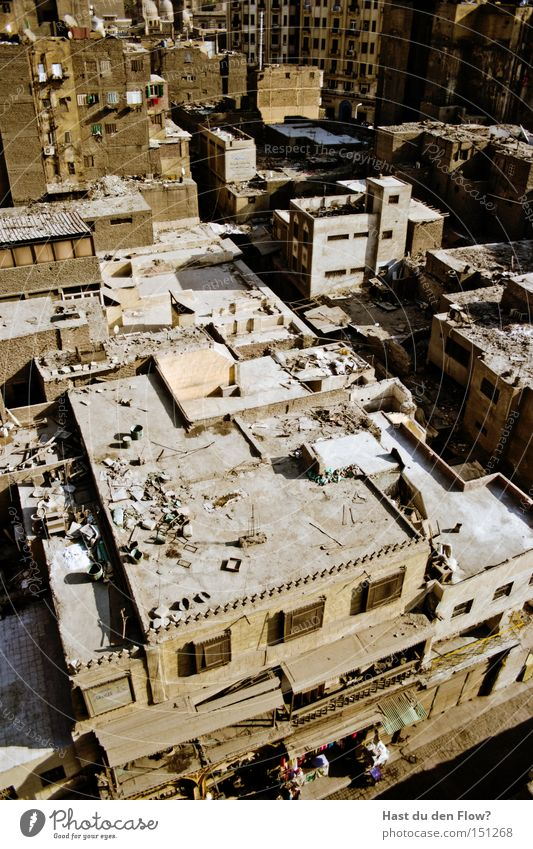 khan el khalili Cairo Egypt Roof Flat roof Town Urban development Near and Middle East Arabia Africa Urbanization Bird's-eye view Overview Quarter