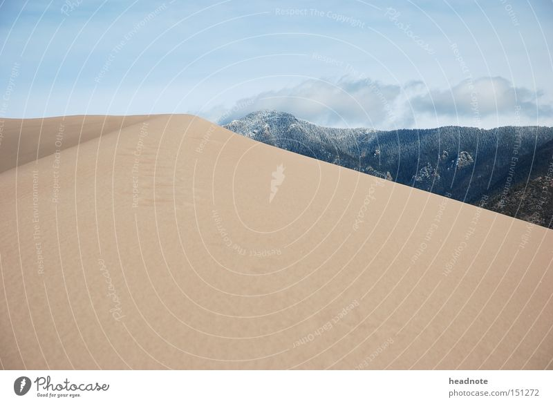 Sky Vacation & Travel Summer Clouds Cold Mountain Sand Earth Travel photography USA Desert Hill Dune