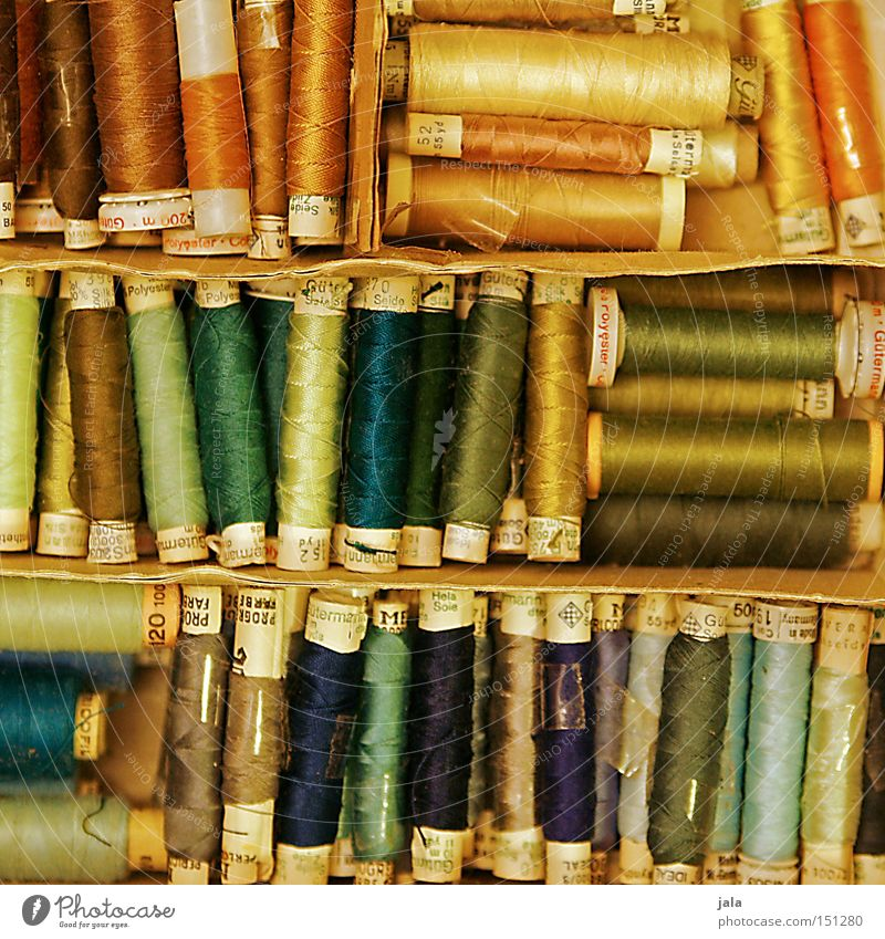 tidiness Sewing thread Silk Multicoloured Arrangement Crate Box Dry goods Coil Services Craft (trade) String