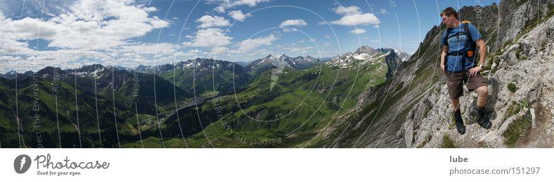 Summer Mountain Hiking Rock Peak Climbing Mountaineering Incline Sportsperson Forest of Bregenz Federal State of Vorarlberg River Lech Municipality of Lech