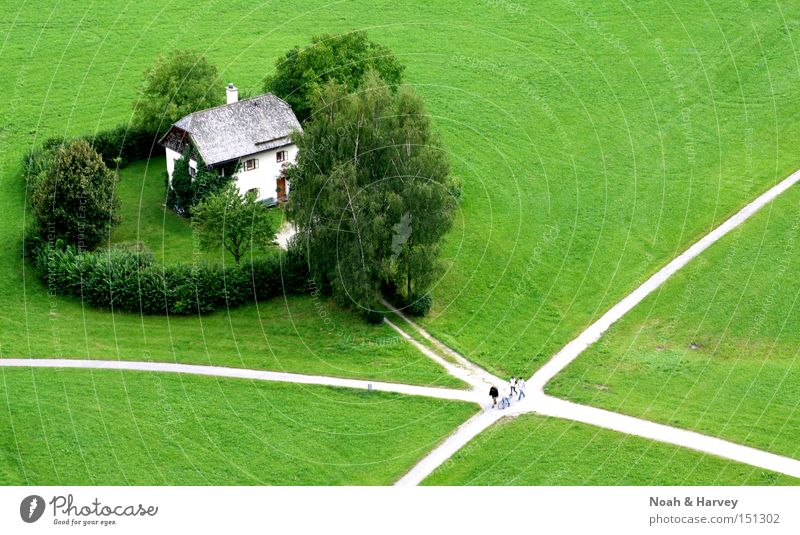 Green House (Residential Structure) Loneliness Meadow Lanes & trails Crossroads Remote Road junction Salzburg Exile